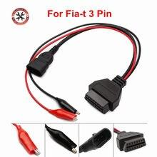 OBD OBD2 Auto kabel samochodowy pasuje f-iat 3Pin do OBDII 16Pin a-lfa l-ancia DLC dla Fiat 3 Pin męski na 16 Pin kobieta kabel diagnostyczny