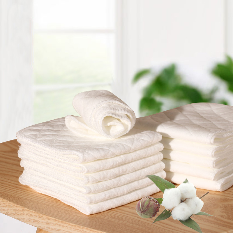 3 Layers Microfiber Baby Nappies Reusable Baby Infant Newborn Cloth Diaper Nappy Liners Insert 10 Pcs