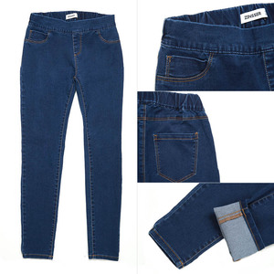Image 5 - 11.11 סתיו חורף מינימליסטי נשים ג ינס סקיני למתוח מזויף קדמי כיס בינוני מותן שטף כחול Slim אלסטי גברת ג ינס