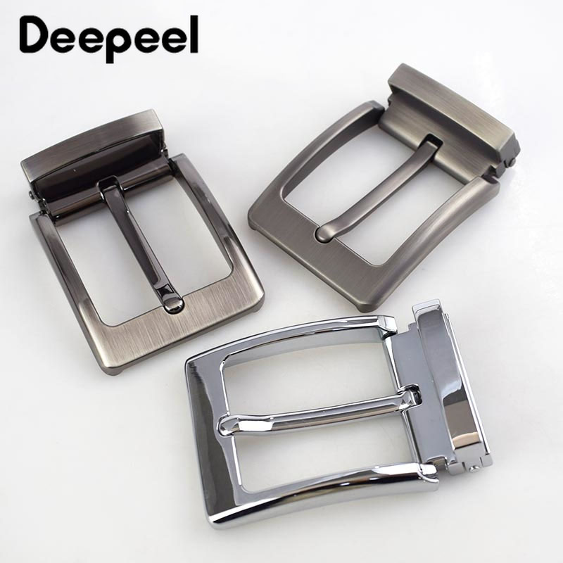 Deepeel 3pcs 40mm Men's Pin Belt Buckle Metal Clip Buckle DIY Leather Craft Apparel Accessories Supply For 3.8cm-3.9cm Wide Belt