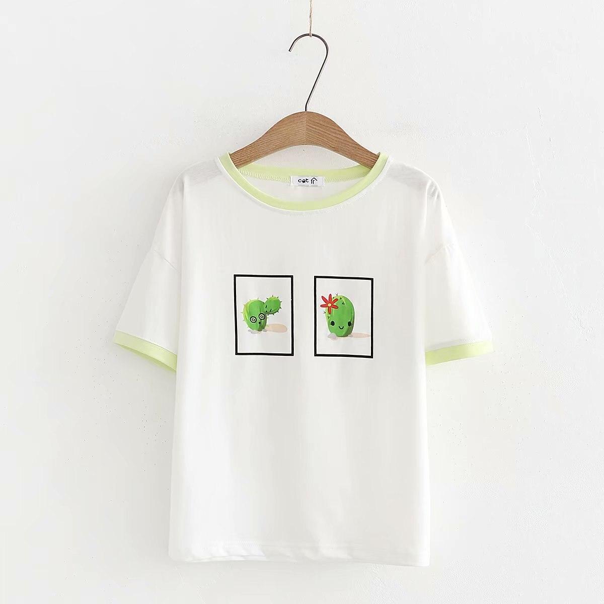 Funny T Shirt Women Summer New  Casual Short Sleeve O-neck T Shirt Femme