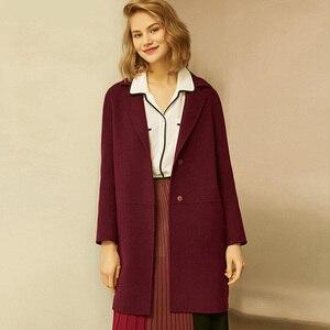 Image 1 - Herbst Winter Frauen Wolle Mäntel 2019 Neue Koreanische version Hohe Qualität Jacken Schlank Cardigan Woolen Frauen Jacke Mantel Rot