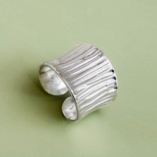 Bohemian Vintage 925 Sterling Silver Large Rings For Women Wedding Party Girls Gifts Open Finger Rings Fashion Jewelry