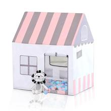 GloryStar Folding House Peach Suede Oil Painting Children Princess Tent Indoor Marine Ball Game Toy