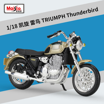 Maisto NEW 1:18 TRIUMPH THUNDERBIRD Alloy Diecast Motorcycle Model Workable Shork-Absorber Toy For Children Gifts Toy Collection 1 18 diecast model for nissan geniss livina red mpv alloy toy car miniature collection gifts