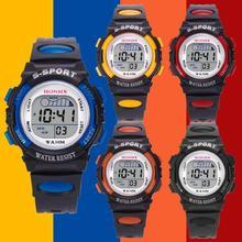 HONHX Luxury Electronic Watch Men's Fashion LED Display 3Bar Waterproof