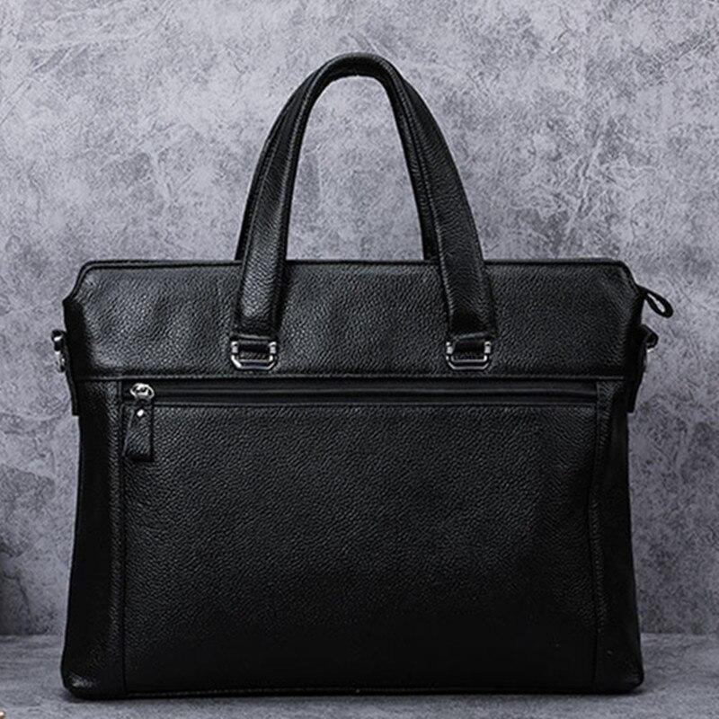 Luxury cowhide crocodile pattern briefcase business bags fashion genuine leather men's laptop bag handbag male shoulder bag