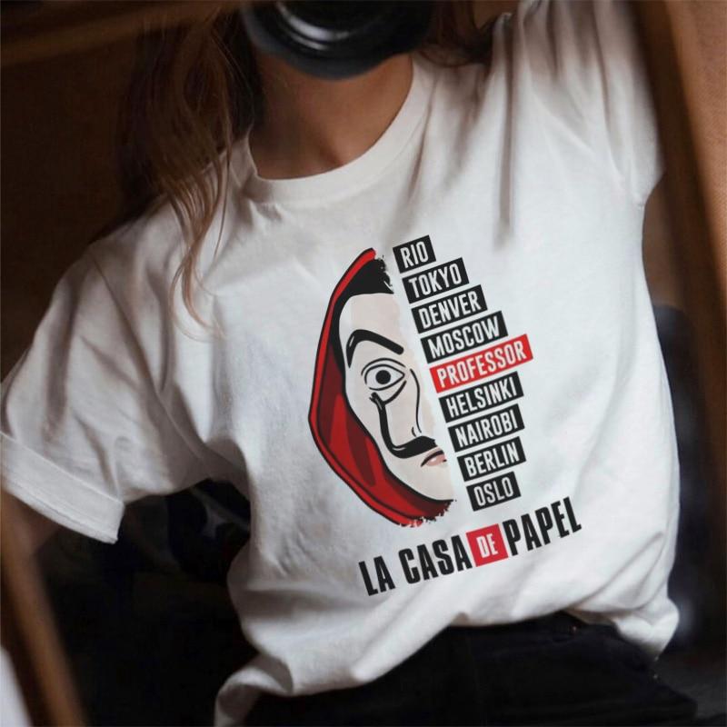 2019 TV Series La Casa De Papel   T     Shirt   Women Money Heist Tee TShirt Casual Plus Size Tops House Of Paper Funny   T  -  Shirt   Female