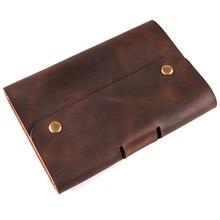 A6 Блокнот кожаный дневник планировщик кольца офис дневник спиральный путешественник блокнот из воловьей кожи