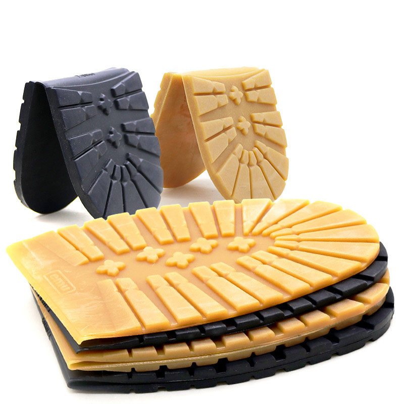 Thicken Rubber Shoe Soles For Men Leather Business Shoes Heel Sole Non-slip Repair DIY Replacement Outsoles Black Yellow Mat Pad