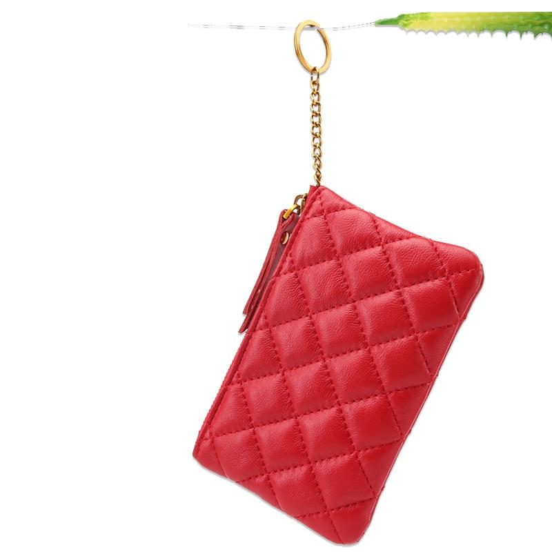 Genuine Leather Purse Fashion Clutch Bag Full-grain Sheepskin Simple Key Wallet Large-Volume Coin Bag
