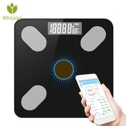 Bluetooth-skala łazienka waga do pomiaru tkanki tłuszczowej LED cyfrowa elektroniczna waga podłogowa waga ciała równowaga opieka zdrowotna światło energia ładunek