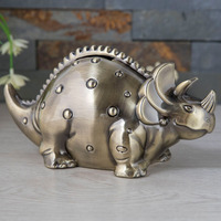 Home Decor Dinosaur Money Boxes Kids Christmas Gifts Metal Animal Coin Boxes Figurines Creative Piggy Bank Drop Shipping