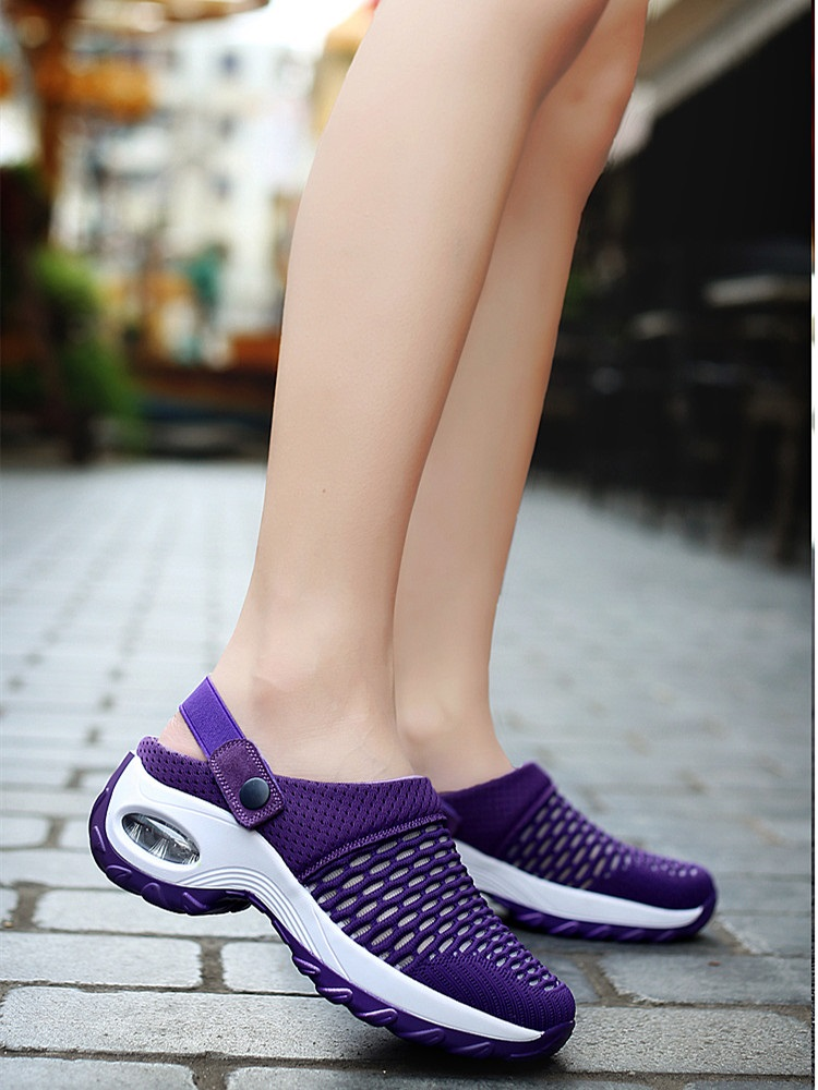 Women Shoes Sandals Cushion Walking-Slippers Mesh Outdoor Breathable New Casual for Increase