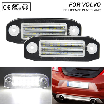 2x Error Free LED License Plate Light Lamp Car Accessories For Volvo C70 S40 S60 S80 V50 V60 Cross Country V70 XC60 XC70 XC90 image
