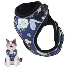 Kat Harnas Escape Proof Kleine Kat En Hond Harnas Soft Mesh Harnas Verstelbare Kat Vest Harness W/Reflecterende Band metalen Clipi(China)
