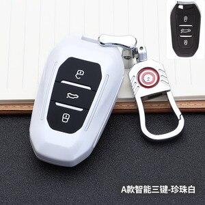 Image 4 - 2019 smart remote car key fob case cover for Peugeot 508 301 2008 3008 4008 407 408 Citroen C5 C6 C4L CACTUS C3XR DS Keychain