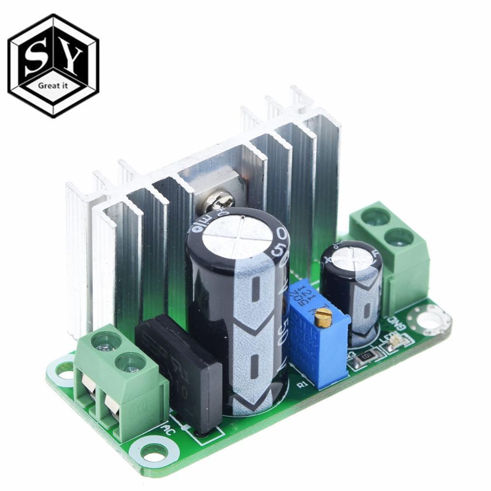 LM317T Регулируемый преобразователь, понижающий модуль печатной платы, линейный регулятор, источник питания с фильтром выпрямителя