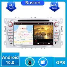 Autoradio 2 din Android 10.0 samochodowy odtwarzacz dvd radio dla Ford focus Mondeo s max Kuga c max wifi sterowanie kierownicą dab 4GB + 64GB