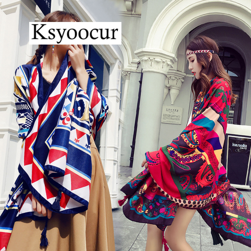 Size 180*90CM, 2020 New Style Cotton Linen Hot Selling Four Seasons Fashion Scarf Shawls And Scarves Women BRAND Ksyoocur E07