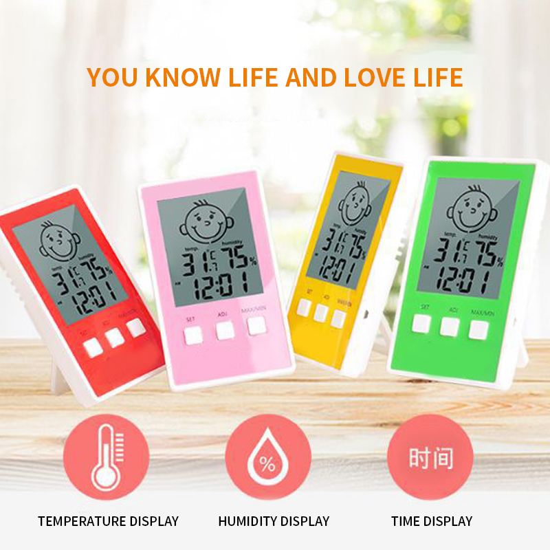 Digital Thermometer Hygrometer Indoor Outdoor Temperature Humidity Meter C/F LCD Display Sensor Probe Weather Station