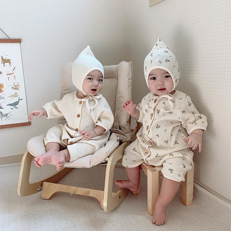 MILANCEL Baby Rompers Korean Hot Style  Infant Girls Clothes Floral Toddler Boys Jumpsuits