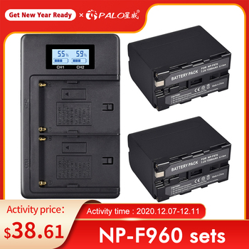 4pcs 7 2v 7200mah np f960 f970 power display battery 1 ultra fast 3x faster dual charger for sony f930 f950 f770 f570 ccd rv100 4pcs 7200mAh NP-F960 NP-F970 NP F960 NP F970 Camcorder battery For Sony NP-F550 NP-F770 NP-F750 NP F770 NPF960 NPF970 Wholesale