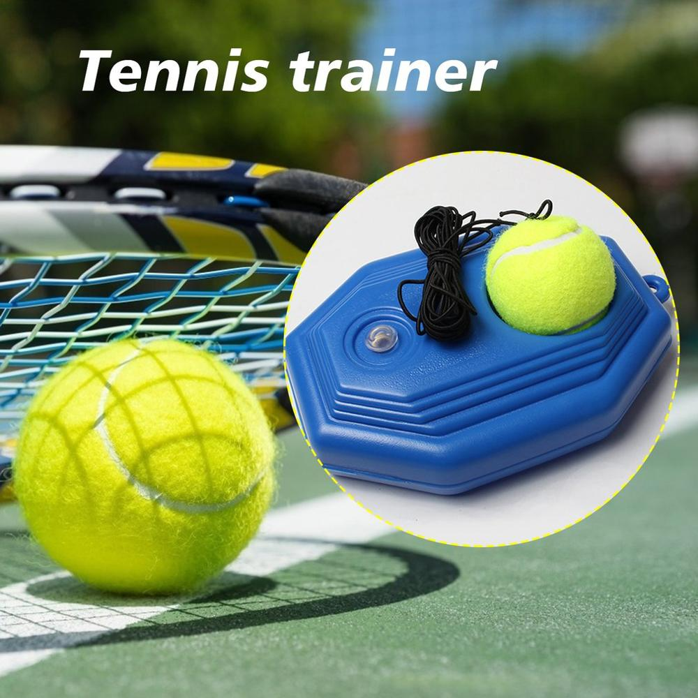 Single Tennis Trainer Self-Study Tennis String Training Tool Exercise Tennis Ball Training Baseboard Sparring Device