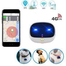 4G pies lokalizator GPS V43 obroża dla zwierząt GPS sterowaniem głosowym nadajnik GPS dla zwierząt domowych lokalizator GPS śledzenie w czasie rzeczywistym WIFI Cat Locator wodoszczelność IP67 darmowa aplikacja
