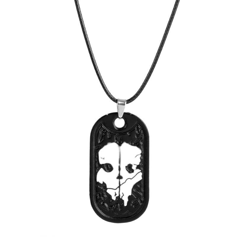WOW Game Jewelry Mens Necklace Ghosts Dog Tag Pendant Army Nameplate For Duty Military Series with Weapons Call Game Fans Gift