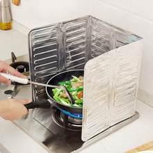Aluminium Folie Küche Öl Schallwand Faltbare Platte Küche Pfanne Öl Splash Schutz Bildschirm 84*32,5 cm Kichen Zubehör