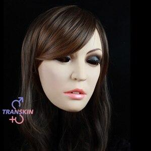 Чехол для лица TRANSKIN, женский, сексуальный, экспрессивный, маскарадный, для косплея, Хэллоуина