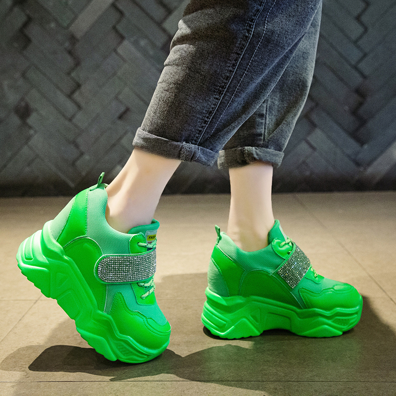 Women's Sneakers Summer 2019 Womens Shoes Breathable Woman Platform shoes Tennis Female New Woman's Fashion Mesh Thick Trainers