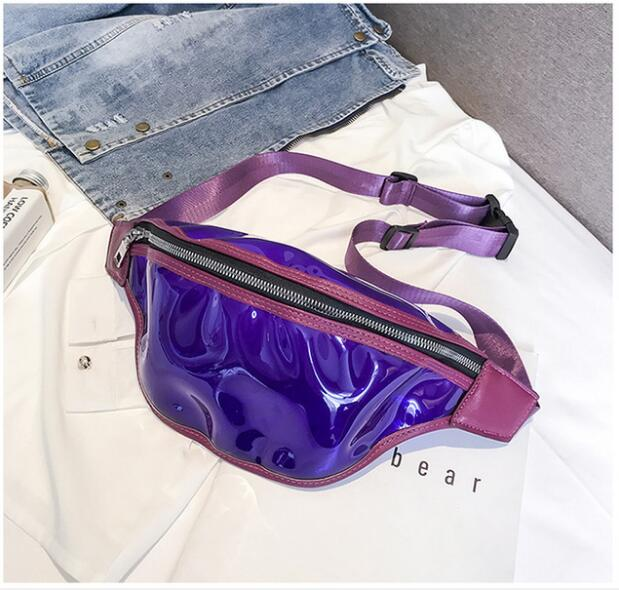 2019 New Arrival Women Plastic Jelly Transparent Bag Women Fashion Waist Bag Solid One Shoulder Bags