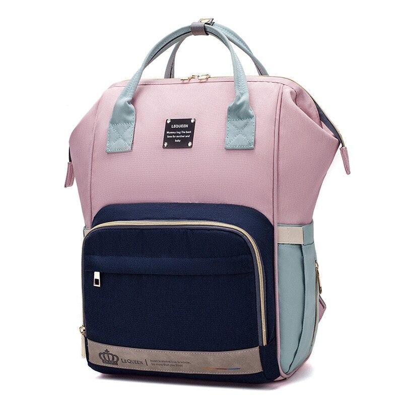 Lequeen-sac à couches de voyage pour maman | Sac à dos de grande capacité, couleurs assorties, couches changeantes pour bébé, pour maman, nouvelle collection 2019