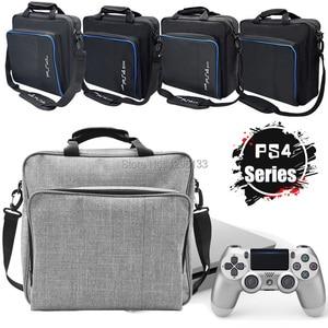 Image 1 - PS4 Pro Slim oyun sistemi seyahat çantası tuval kılıfı korumak omuz taşıma çantası çanta Sony PlayStation 4 konsol ve aksesuarları