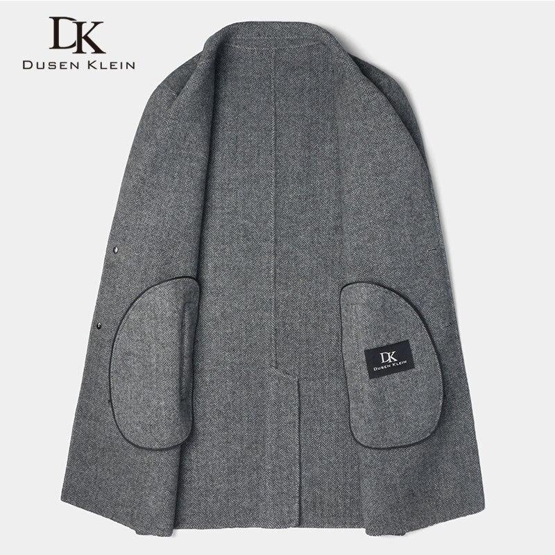 Long Wool Men Blend Coat Winter Warm Business Casual Slim Jacket z8803H