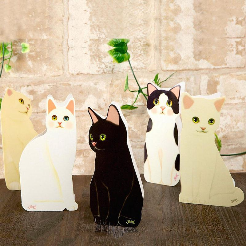 3D Lovely Cat Greeting Card Creative Blessing Festival Birthday Invitations Card 1 Color Cute Pc Cat Card Quality Design Ra S9R1