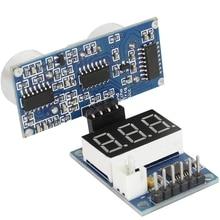 цена на HC-SR04P Ultrasonic Sensor HC-SR04 Measuring Distance Sensor LED Display Module for Arduino UNO Robot