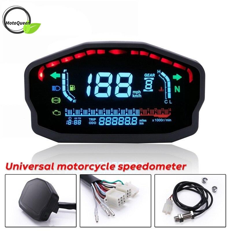 1,2, 4 Cilindri Moto Universale LED LCD Tachimetro Digital Back light Contachilometri Per Kawasaki Honda Yamaha misuratore di velocità