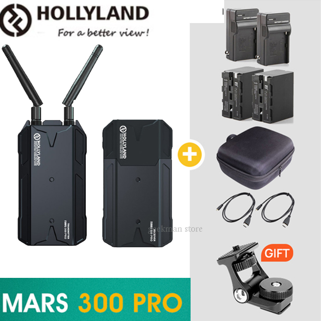 NEW HOLLYLAND Mars 300 PRO Dual HDMI 300FT wireless video Transmission Systerm HD 1080P