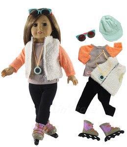 Image 3 - 1 conjunto boneca roupa para 18 polegada boneca americana muitos estilo para a escolha