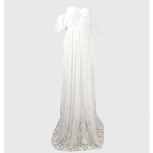 Image 5 - Robe longue de maternité, accessoires de photographie, pour femmes enceintes, robe Maxi pour séance Photo