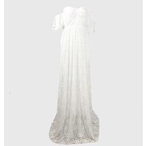 Image 5 - Uzun hamile kıyafetleri gebelik elbise fotoğraf sahne elbiseler fotoğraf çekimi için Maxi cüppeli elbiseler hamile kadınlar için giyim