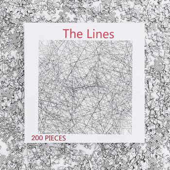 The box and pieces to the 200 piece version of the lines puzzle