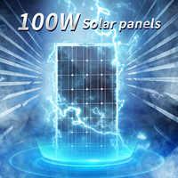 panels solars flexible 200w 100w Cargador solar 12v célula solar kit completo para sistema doméstico 1000w coche barco solar caravana batería RV