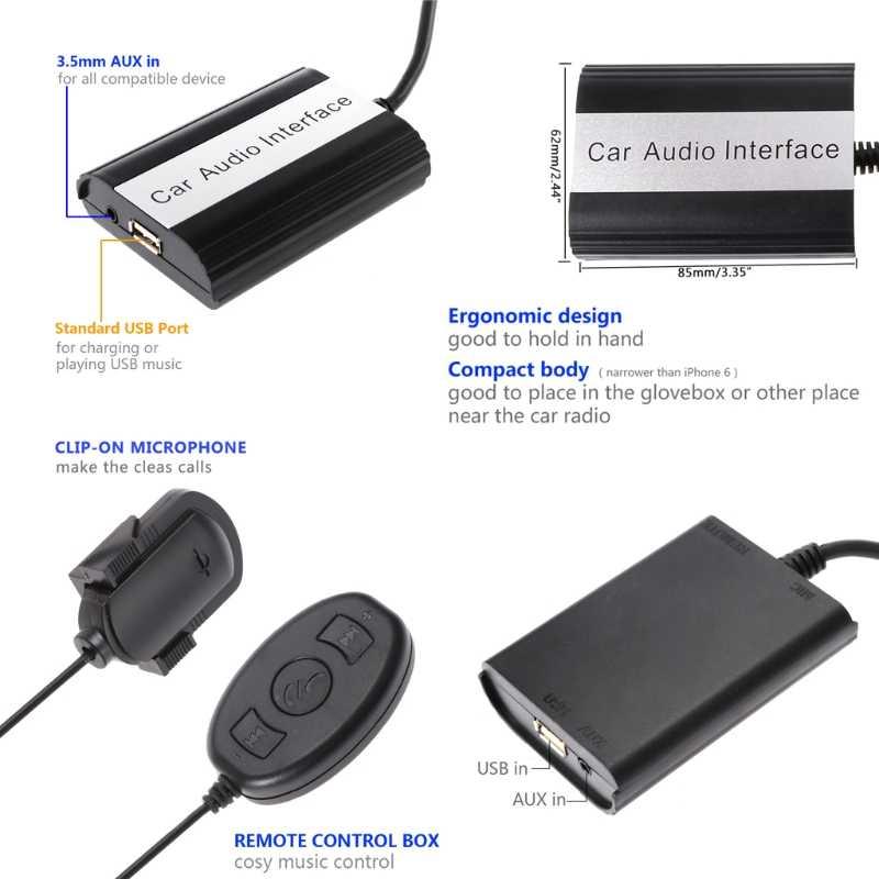 """1 комплект с функциями """"Hands Free"""" и Bluetooth для автомобиля Наборы MP3 AUX адаптер Интерфейс для Mazda 3, 5, 6, RX8 сглаживатель перепадов напряжения поддержка прямых поставок"""