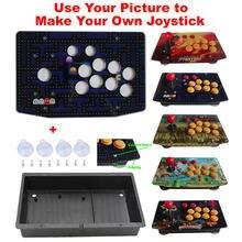 Kits de Joystick de Arcade, piezas de Panel de obra de arte acrílico, caja de caja plana de 10 botones