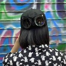 Новые очки пилота бейсбольная кепка sanpback Кепка для мальчиков и девочек в стиле хип-хоп ветрозащитная крутая Кепка gorros