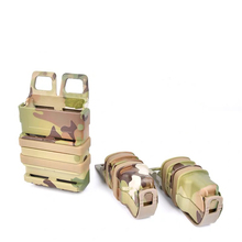 FMA Camouflage Quick Pull Set Double Single link 5.56 MOLLE Plastic rigid Accessory box For M4 MAG